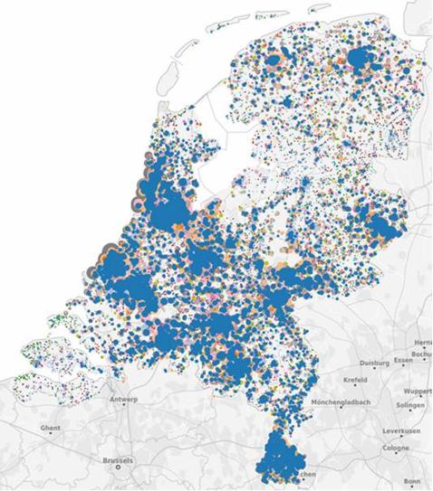 Kaart Nederland TheMarketCube
